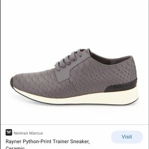 Vince Rayner Python Trainer Sneakers